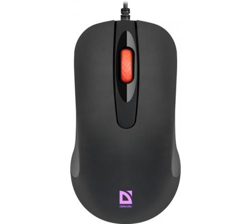 Мышь DEFENDER    280 Ultra Classic (USB, 1000dpi,Optical) Black 7 цветов подсветки Блистер