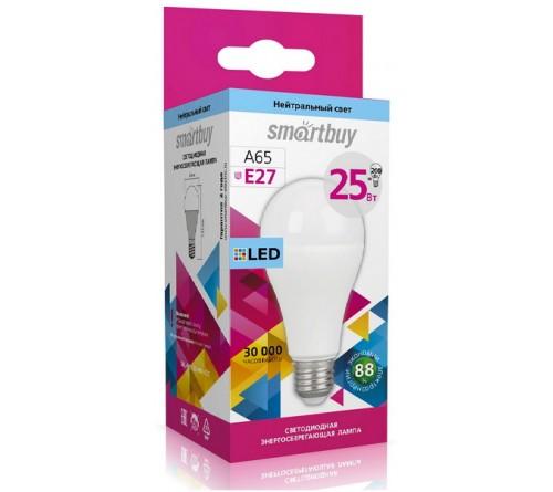 Лампа светодиодная SmartBuy (LED) A65-  25W-4000K E27 Белый свет