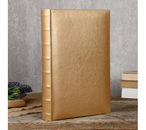 Ф/альбом ЯМ 300 ф.FA-EBBM300 - 828, кн.пер, иск.кожа, золото, классика              (12)