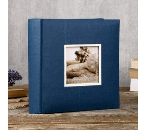 Ф/альбом ЯМ 400 ф.FA-EBBM400 - 849, кн.пер, иск.кожа, синий              (12)