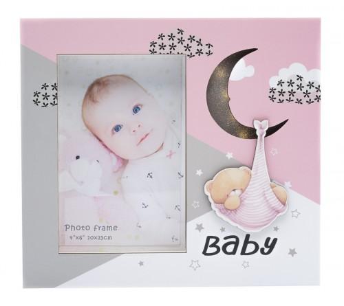Ф/Рамка из МДФ  с подсветкой FFL - 804, 10x15 см., Baby, розовая (24)