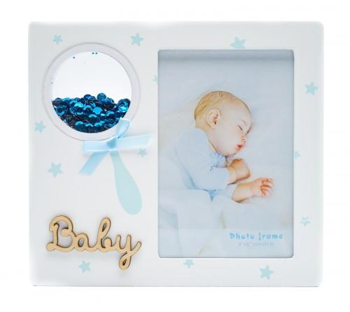 Ф/Рамка из МДФ  FFL - 809, 10x15 см., Baby, голубая (24)