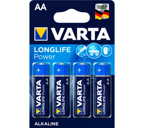 Батарейка VARTA             LR6  Alkaline  (  4BL)(80)(400)  High Energy/L. POWER
