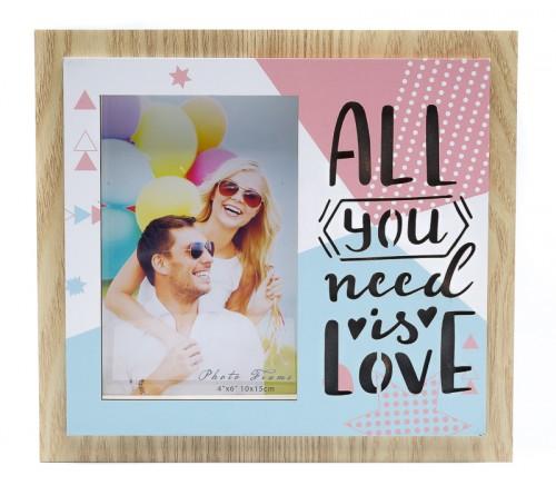Ф/Рамка из МДФ  с подсветкой FFL - 834, 10x15 см., All you need is love (24)