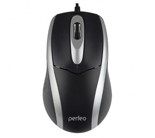 Мышь Perfeo  Tour BS                      (USB, 1000dpi,Optical) Black-Silver (PF_4751),Коробка