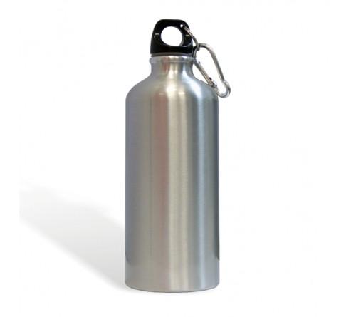 Бутылка спортивная металлическая серебро 500 мл