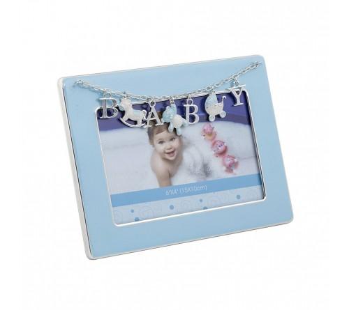 Ф/Рамка PLATINUM PF11292B BLUE 10x15 BABY, голубая, металлическая (6/24)