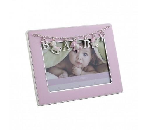 Ф/Рамка PLATINUM PF11292P PINK 10x15 BABY, розовая, металлическая (6/24)