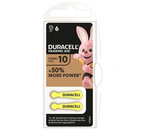 Батарейка DURACELL   ZA10 - 6BL  (6/30)