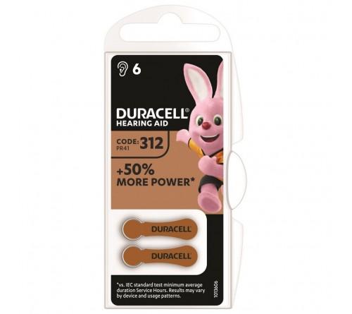 Батарейка DURACELL   ZA312 - 6BL  (6/30)