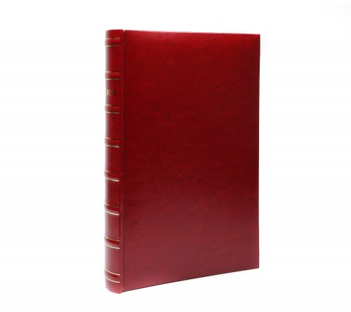 Ф/альбом ЯМ 300 ф.FA-EBBM300 - 845, кн.пер, иск.кожа, бордовый, классика              (12)