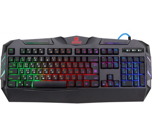 Клавиатура DEFENDER  GK-120DL Werewolf        (USB,M-M) Black Игровая,RGB подсветка