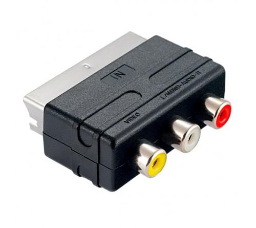 Кабель  Perfeo (A7007) SCART (F) вилка - RCA (M) розетка  Видео + Аудио адаптер (100)