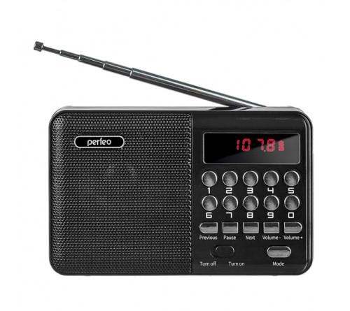 Радиоприемник-миниспикер Perfeo PF-I  90-BK    Palm                             FM,MP3 USB,microSD 18650 Black