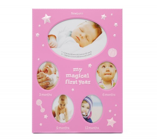 Ф/Рамка  FFM - 531/5  Металл  5 фото ( 1/9*13 + 4/5*6 см) Детская розовая