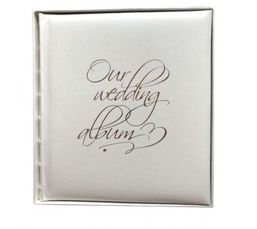 Ф/альбом ЯМ 30 л. (29*32) FA-EBB30 - 854 свадебный, кн.пер, иск.кожа, под уголки, подарочная коробка   (12)