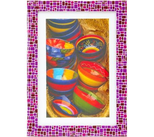 ФотоРамка AN пластик 21*30 Мозаика филетовый                   (18)