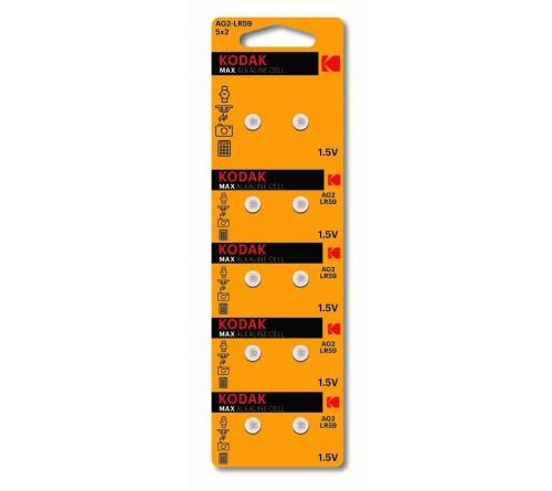 Батарейка Kodak   G 2        (10BL)  (396) LR726, LR59          (100/1000)