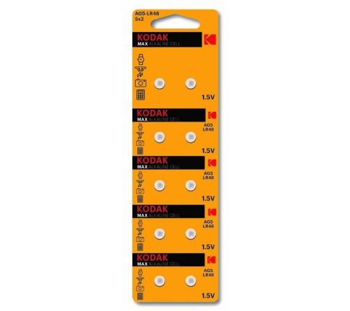 Батарейка Kodak   G 5        (10BL)  (393) LR754, LR48          (100/1000)