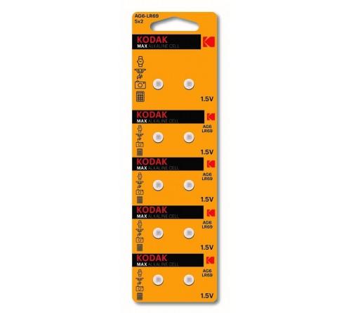 Батарейка Kodak   G 6        (10BL)  (370) LR920, LR69          (100/1000)
