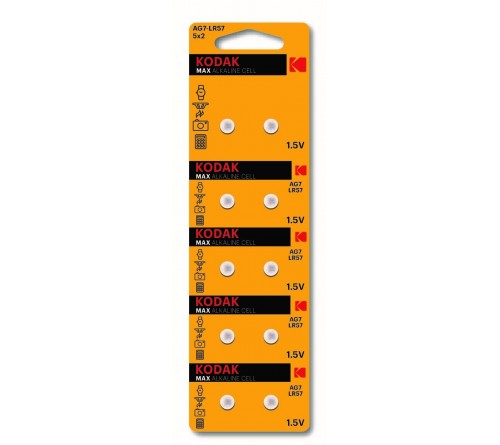 Батарейка Kodak   G 7        (10BL)  (399) LR926, LR57          (100/1000)