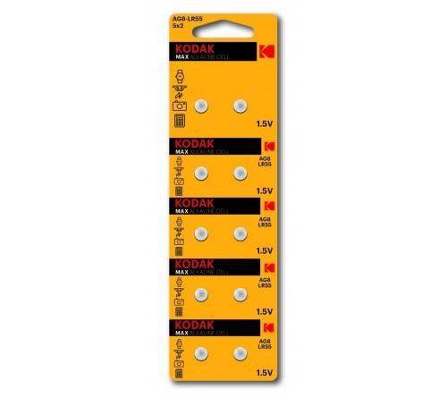 Батарейка Kodak   G 8        (10BL)  (391) LR1120, LR55          (100/1000)