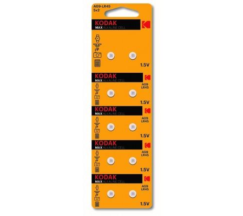 Батарейка Kodak   G 9        (10BL)  (394) LR936, LR45          (100/1000)