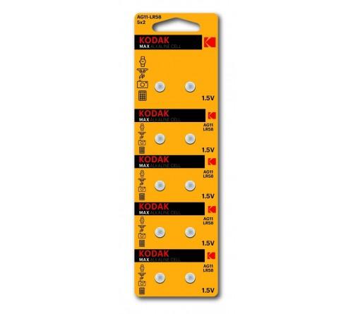 Батарейка Kodak   G11        (10BL)  (361) LR721, LR58          (100/1000)