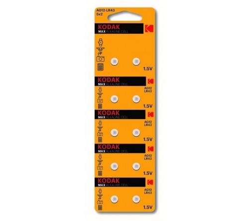 Батарейка Kodak   G12        (10BL)  (386) LR1142, LR43          (100/1000)