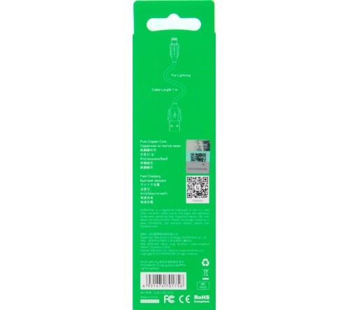 Кабель  USB - Lighting iPhone Borofone BX 19 1.0 m,1.3A Black,коробочка Силикон