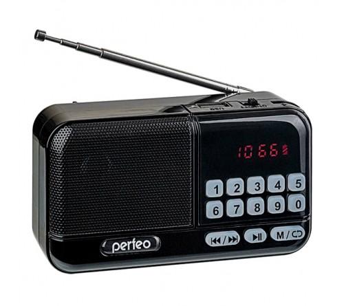 Радиоприемник-миниспикер Perfeo Aspen                             FM,MP3 USB,microSD 18650 Black