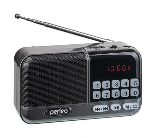 Радиоприемник-миниспикер Perfeo Aspen                             FM,MP3 USB,microSD 18650 Grey