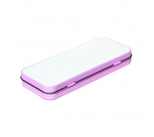 Пенал-футляр металлический Розовый