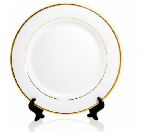 Тарелка белая ободок золотой 200 мм