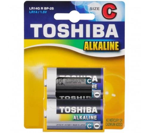 Батарейка TOSHIBA        LR-14  (2BL)(20)(120)