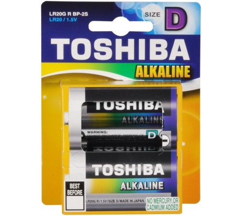 Батарейка TOSHIBA       LR-20  (2BL)(20)(80)