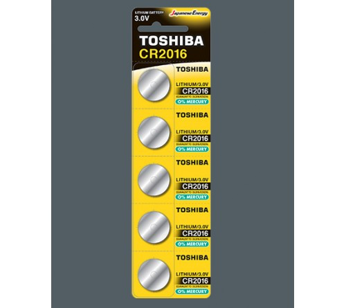 Батарейка TOSHIBA        CR2016  ( 5BL)(100)