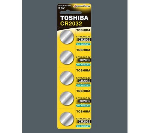 Батарейка TOSHIBA        CR2032  ( 5BL)(100)