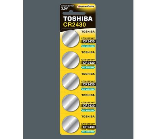 Батарейка TOSHIBA        CR2430  ( 5BL)(100)