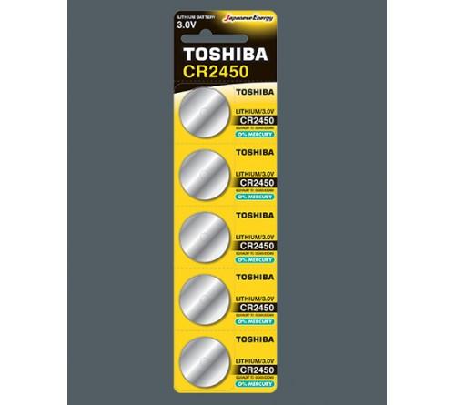 Батарейка TOSHIBA        CR2450  ( 5BL)(100)