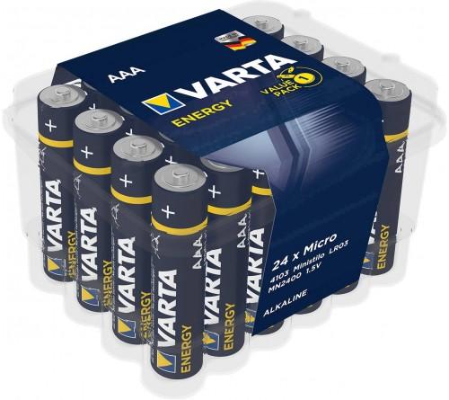 Батарейка VARTA             LR03  Alkaline  (    24)(24)(288) Energy Plastic Box 24