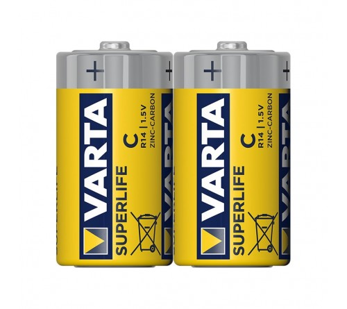 Батарейка VARTA             R14  SUPER LIFE   Shrink 2 Heavy Duty 1.5V (2014) (2/24/120)