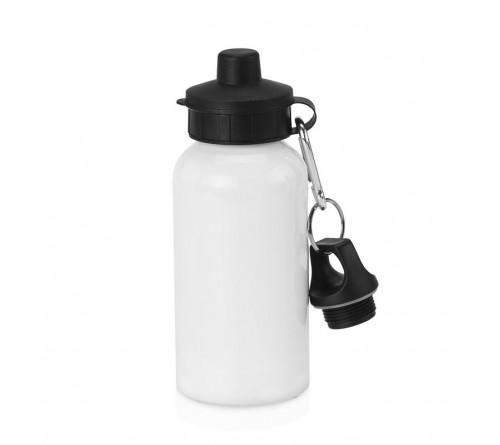 Бутылка спортивная белая 500 мл с двумя крышками