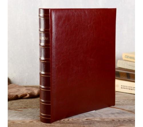 Ф/альбом ЯМ 400 ф.FA-EBBM400 - 846, кн.пер, иск.кожа, коричневый, классика              (12)