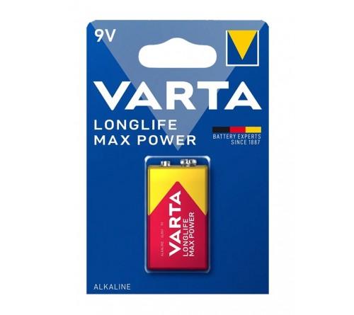 Батарейка Крона  VARTA            6LR61 (10)(50)  Блистер Max Tech/ L Max Power 4722  ( 1/10/50)