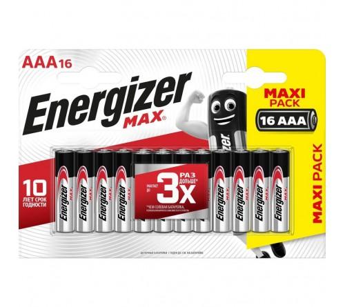 Батарейка ENERGIZER    LR03  Alkaline  (  16BL)(16/96) MAX