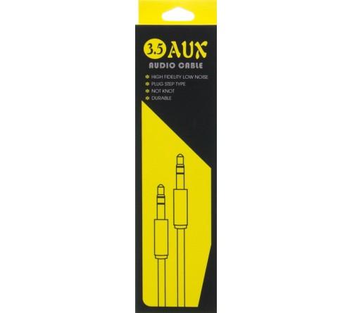Кабель  AUX 3.5 Jack вилка - 3.5 Jack вилка   1,0 м металлическая оплетка,металлические коннекторы,коробка