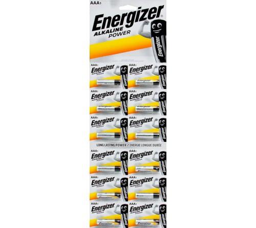 Батарейка ENERGIZER    LR03  Alkaline  (12BL)(120) Power Отрывной
