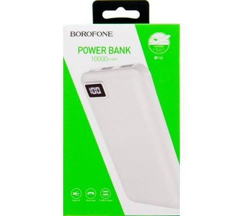 Внешний Аккумулятор Power Bank Borofone BT  22                            10000 mAh 2*USB 2.0A White