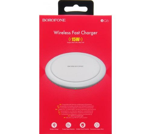 Беспроводное Зарядное Устройство Borofone BQ   6  1.8A   5W-15W White